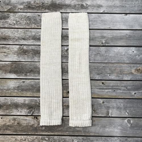 絹糸紡シルクコットン レッグウォーマー60cm【ネコポス可】