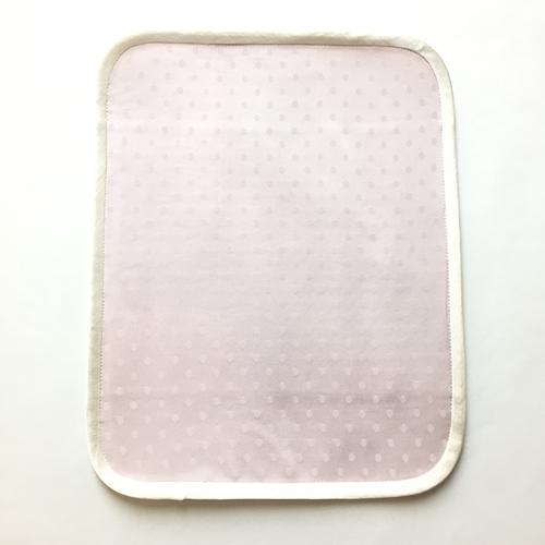 薬効染めシルク ハンカチLサイズ3つ折り(紫根染め:パープル)【ネコポス可】