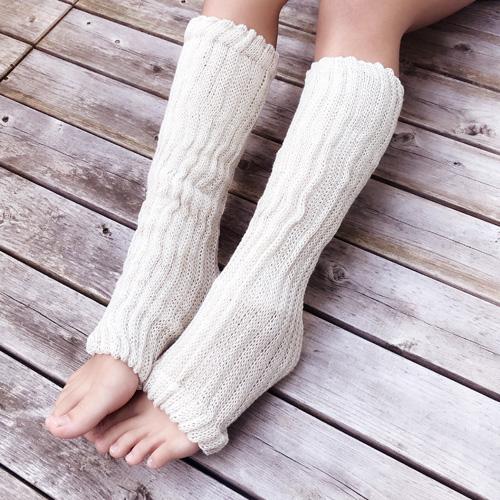 絹糸紡シルクコットン レッグウォーマー40cm【ネコポス可】