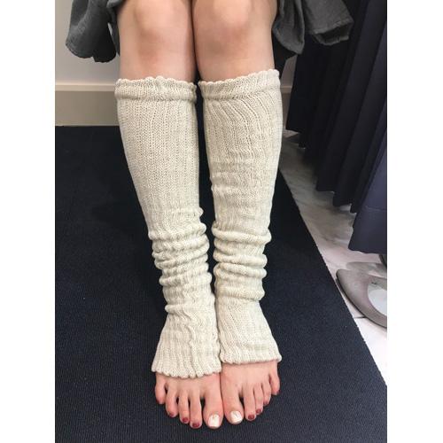 絹糸紡シルクコットン レッグウォーマーブラック60cm【ネコポス可】