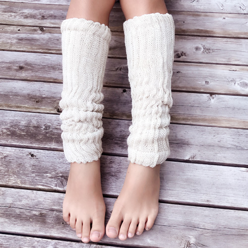 【即納】絹糸紡 シルクコットン レッグウォーマー60cm 草木染 選べる全12色  【ネコポス不可】