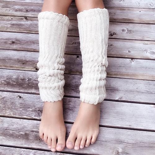 【即納】絹糸紡 シルクコットン レッグウォーマー40cm 草木染 選べる全12色  【ネコポス不可】