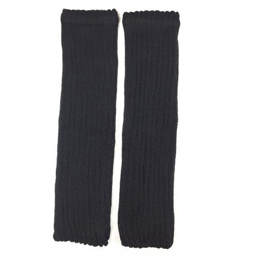 絹糸紡シルクコットン レッグウォーマーブラック40cm【ネコポス不可】