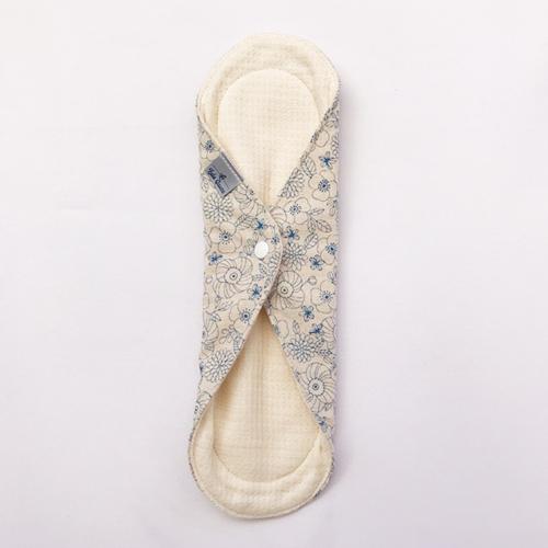 布ナプキン[普通の日・多い日用] 一体型布ナプキン 防水あり Mサイズ Lulu Gause 選べる花柄!【ネコポス可】