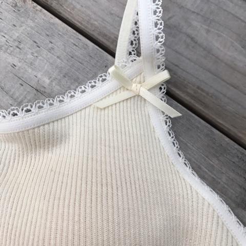 絹糸紡シルク キャミソール〇メローミシン〇月白(染なし)【ネコポス可】