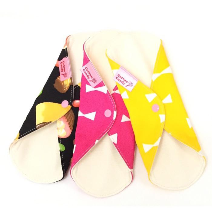 布ナプキン[おりもの・軽い日用]防水一体型 天竺 Cotton Candy【ネコポス可】選べる柄
