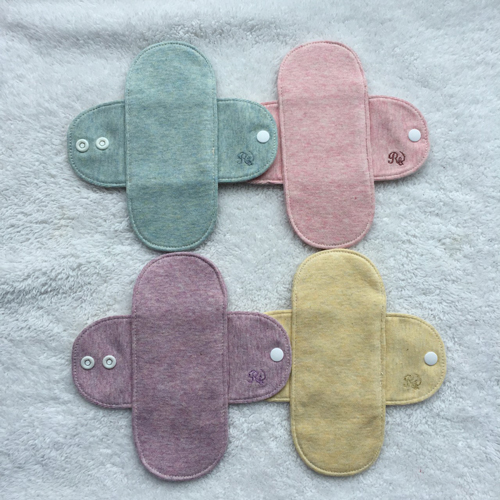 布ナプキン ミニライナー4枚セット (防水布なし)  おりもの用 ボタニカルダイ 【ネコポス可】