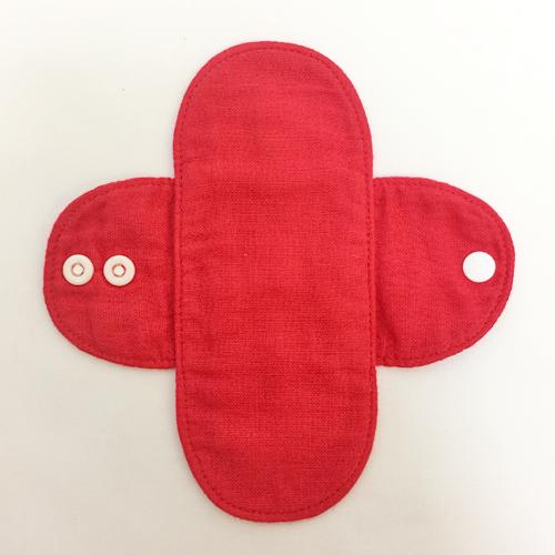 赤染めミニ布ライナー(防水なし) 3枚セット ラックダイ染め【ネコポス可】
