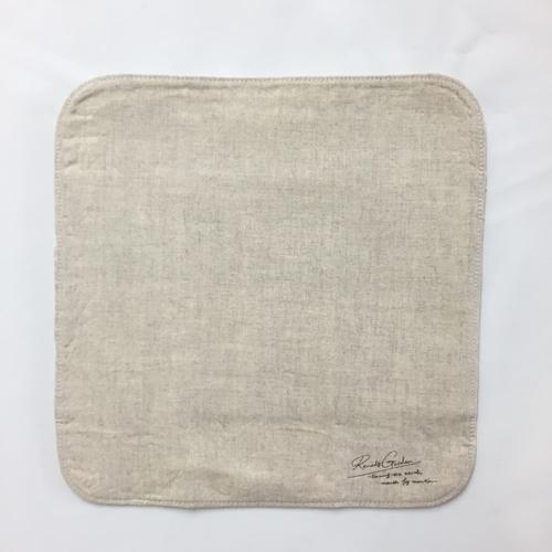 布ナプキン [普通の日・多い日用] ハンカチM3折 オーガニックリネン ステッチ仕上げ【ネコポス可】