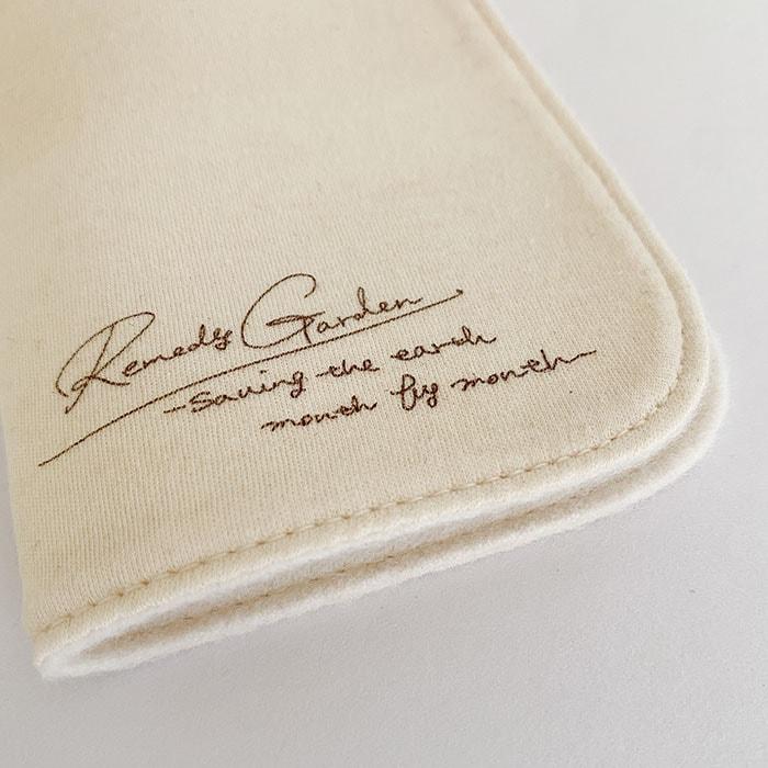 布ナプキン [おりもの・軽い日用] ハンカチSサイズ2つ折 オーガニックリネン ステッチ仕上げ【ネコポス可】