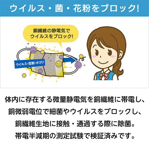【アオレイル】立体型銅繊維マスク