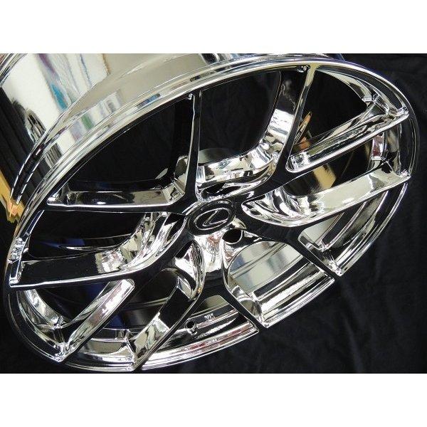 レクサスNX RMP 025F-fL スーパーブライトクローム(メッキ) レクサス純正センターキャップ専用設計 245/45R20 ブリヂストン タイヤセット 送料無料