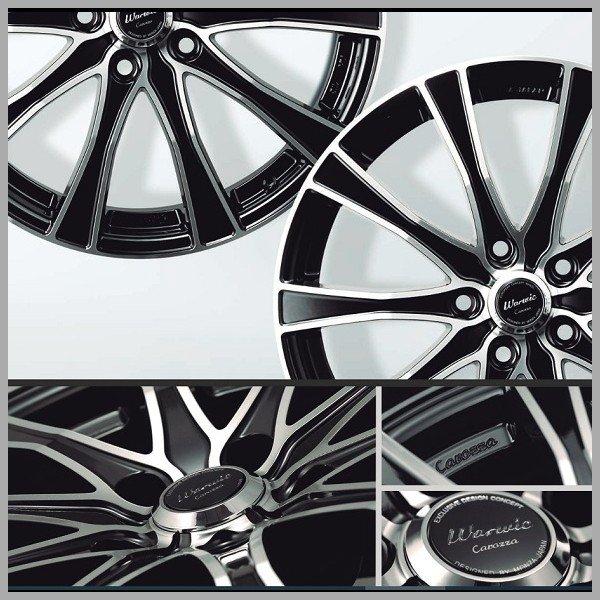 送料無料 235/50R18 アルファード ヴェルファイア MONZA ワーウィック カロッツァ 18インチ TOYO 国産タイヤ ホイール4本セット