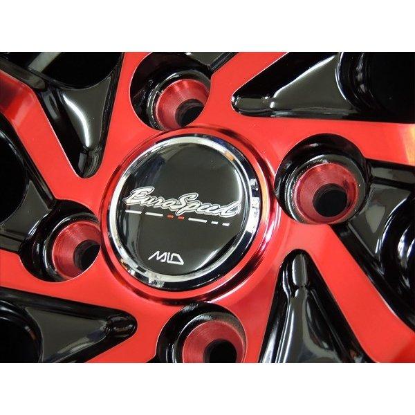 4本 送料無料 12インチ S810 レッドクリア 赤 アルミホイール 4.0 +43 JWL-T 4穴 PCD100 4本 軽トラック 軽バン ハイゼット キャリー アクティ N-VAN