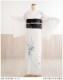 訪問着レンタル 絽 sr5012 夏用 着物レンタル 7月 8月 結婚式 夏着物 お宮参り 訪問着フルセット 一式 夏 涼しい 着物レンタル ママ 母 母親  淡色 「白地に慶びの市松麗花」