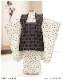 七五三 3歳 男の子 着物レンタル df014 被布セットレンタル 子供着物 753 貸衣装 2020 イベント 結婚式 三歳 人気 男 初詣 誕生日 かわいい 白クリームに水玉モダン