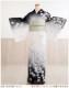 訪問着レンタル 絽 sr5015 「和りずむ」ブランド 白×黒慶び吉祥彩花 結婚式 訪問着レンタル 夏用 夏着物 訪問着レンタル お宮参り 訪問着レンタル 7月 8月 フルセットレンタル  夏 着物レンタル ママ 母 母親  淡色 人気