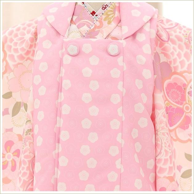 3歳 女の子 着物 七五三レンタル f1464 被布セット 着物レンタル 753 貸衣装 3才 結婚式 2021 和服 子供着物 人気 モダン おしゃれ かわいい 誕生日 hifu 往復送料無料 「KAGURA」ブランド やさしいピンク彩り祝華