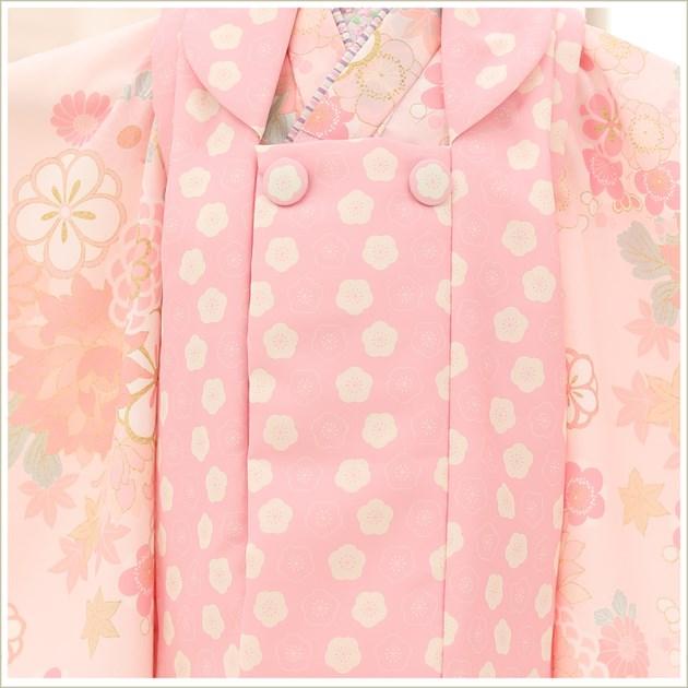 3歳 女の子 着物 七五三レンタル f1465 被布セット 着物レンタル 753 貸衣装 3才 結婚式 2021 和服 子供着物 人気 モダン おしゃれ かわいい 誕生日 hifu 往復送料無料 「KAGURA」ブランド ピンクオレンジ祝いの慶華