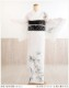 訪問着レンタル 絽 sr5018 結婚式 着物レンタル 夏用 夏着物 お宮参り 7月 8月 フルセットレンタル 涼しい 爽やか kimono 夏 ママ 母 母親  淡色 人気「彩の粋」ブランド 白地に夏の竹文
