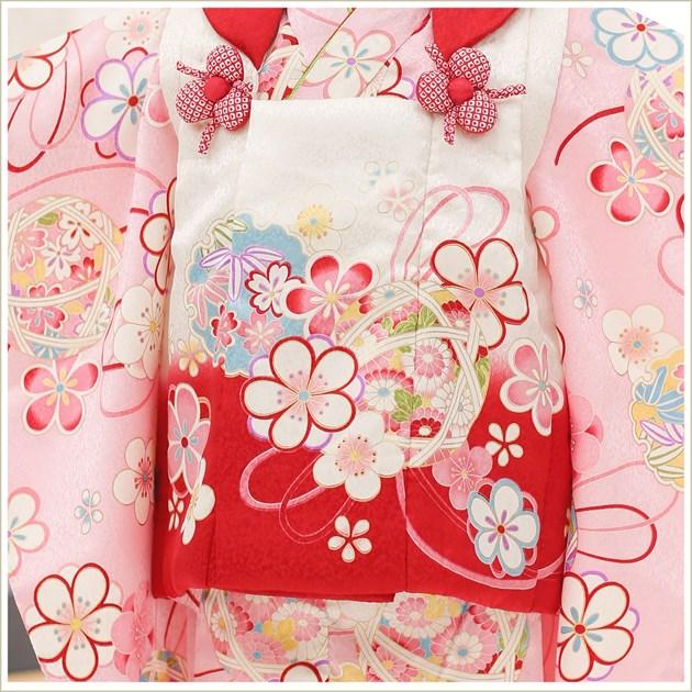 3歳 女の子 正絹 七五三レンタル 高級着物 f1412 被布セット 絹のお着物 着物レンタル 753 貸衣装 2020 3才 結婚式 和服 子供着物 人気 モダン かわいい 高級生地 誕生日 hifu 往復送料無料 ピンクに彩り古典祝華スタイル