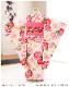 小さめ7歳 女の子 七五三レンタル j5040 5歳 七五三 フルセット 753 子供着物 2020 貸衣装 6歳 七歳 発表会 結婚式 人気 七草祝い 「式部浪漫」 ピンクに彩りの吉祥麗花