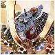 5歳 男の子 正絹 着物レンタル 七五三 d4190 袴レンタル 753 「100cm〜110cm」 フルセット 卒園式 4歳 5才 七草祝い 貸衣装 羽織 人気 レトロ モダン かっこいい 子供着物 「高級正絹着物」 白地に金彩と慶び武勇龍兜