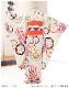 7歳 女の子 着物レンタル 七五三 j7288 フルセット 753 子供着物 6歳 7才 結婚式 七草 人気 レトロ モダン かわいい 2020 貸衣装 発表会 「Kawaei」ブランド 水色にモダン吉祥彩華紋