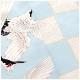 成人式 振袖レンタル fb1320s 振り袖レンタル 20歳 1月 お正月 高級振袖 レトロ おしゃれ かわいい フルセット 貸衣装 着物レンタル 2022 「水色ツートンカラー×モダン飛翔鶴」