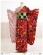 成人式 振袖レンタル fb1321s 振り袖レンタル 20歳 1月 お正月 高級振袖 レトロ おしゃれ かわいい フルセット 貸衣装 着物レンタル 2022 「赤地にツートンカラー×モダン慶爛花」