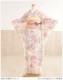 【絽】夏用振袖レンタル さわやかな白地にピンク桜椿花 sf1105【17点フルセット】/和服/振り袖/レンタル振袖/着物/結婚式/結納/夏/夏物/貸衣装/イベント/食事会/ふりそでフリソデ/7月/8月/9月上旬/ろ/