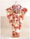 【単衣】【振袖レンタル】クリーム色×紅赤に吉祥萩模様 sf1140【レンタル 振袖】【着物レンタル】【振袖 フルセット】【振り袖】【単】【夏】【結婚式】【結納】【貸衣装】【6月/7月/8月/9月】