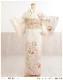 訪問着レンタル 卒業式 hw1449 着物レンタル 母 入学式 結婚式 七五三 ママ フルセット お宮参り 753  卒園式 正絹 母親 kimono 人気 お茶会 houmongi 「クリーム×ピンクぼかし縁起彩華」