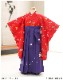 【袴レンタル】3歳 女の子 七五三レンタル h3001 女の子 七五三着物レンタル 2020 貸衣装 3才 753 結婚式 かわいい おしゃれ 子供着物 人気 赤地に慶びの蝶紫袴