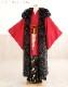 成人式 メンズ ファーコートレンタル fct001 男性用 派手 目立つ ロングファー ロングコート ショール 男 黒 身長173cm以上対応