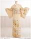 卒業式 母 着物レンタル hw1349s 訪問着レンタル 入学式 結婚式 七五三【小さめ訪問着】フルセット お宮参り 753  卒園式 正絹 ママ 母親 kimono houmongi 人気 結納 お茶会 「上品なクリーム金彩古典縁起」