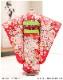 5歳女の子(小さめ7歳)七五三レンタル j5036 5歳七五三 フルセット 753 子供着物 2020 貸衣装 6歳 七歳 発表会 結婚式 人気 七草祝い「赤地ピンクに豪華麗しの祝彩華」