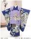 七五三 3歳 男の子 着物レンタル df067 被布セット 子供着物 753 貸衣装 2021 イベント 結婚式 三才 人気 男 初詣 誕生日 かわいい 「陽気な天使」 紺地に古典縁起と武勇兜