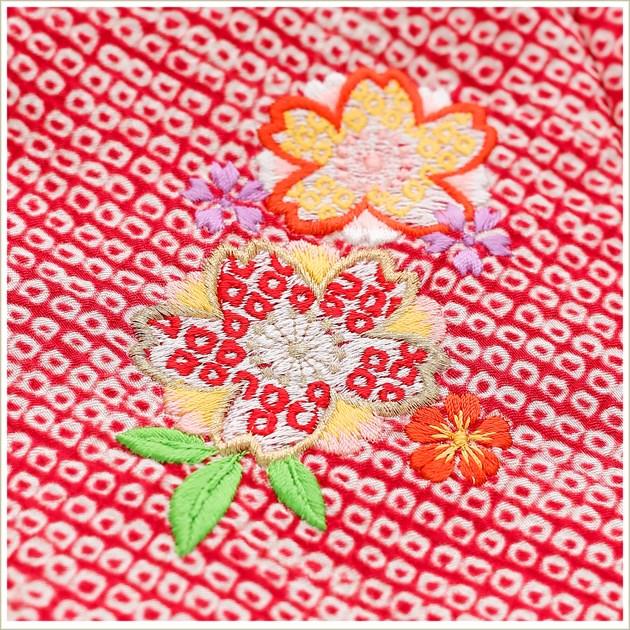 3歳 女の子 正絹 着物レンタル 七五三 f1359-3 被布セット 最高級 絹のお着物 753 レンタル七五三 被布 2020 貸衣装 3才 結婚式 子供着物 人気 モダン かわいい hifu 往復送料無料 「しゃれっこ」ブランド 上質なピンク絞り刺繍3