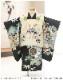 七五三 小さめ 3歳 男の子 着物レンタル df027s 被布セット 2歳 85cm前後 子供着物 753 貸衣装 2021 イベント 結婚式 三歳 人気 男 初詣 誕生日 かわいい 「陽気な天使」 黒地に祝いの縁起紋様