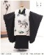 七五三 3歳 男の子 正絹 着物レンタル df069 被布セット 子供着物 753 貸衣装 イベント 結婚式人気 2020 男 初詣 かわいい かっこいい 「高級正絹着物」 黒×白に慶び金彩飛翔鷹