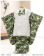 七五三 3歳 男の子 着物レンタル df031 被布セット 子供着物 753 貸衣装 2021 イベント 結婚式 三歳 人気 男 初詣 誕生日 かわいい 緑地にモダン武勇兜