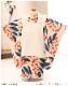 七五三 3歳 男の子 着物レンタル df044 被布セット 子供着物 753 貸衣装 2021 イベント 結婚式 三歳 人気 男 初詣 誕生日 かわいい 「花わらべ」 クリーム×オレンジドット