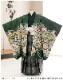 七五三 5歳 男の子 着物レンタル d5380 袴レンタル 753フルセット 貸衣装 卒園式 子供着物 2020 七草祝い 人気 「和がまま」ブランド 緑地に吉祥紋と武勇龍兜