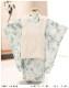 七五三 3歳 男の子 着物レンタル df045 被布セット 子供着物 753 貸衣装 2021 イベント 結婚式 三歳 人気 男 初詣 誕生日 かわいい 「花わらべ」 ブランド ホワイトミスト×シンプルモダン