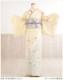 夏用 単衣 訪問着レンタル sh1083 着物レンタル 付下げ フルセット 結婚式 お宮参り 夏 6月 7月 8月 9月 付け下げ 涼しい ママ 母 母親 houmongi 正絹「クリームに彩り慶涼華」
