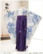 卒園式 袴レンタル 女の子 h7274 幼稚園 保育園 卒業式 着物レンタル フルセット 卒園 謝恩会 着物レンタル  子供着物 5歳 6歳 7歳 春 3月 往復送料無料 袴サイズ変更可能 「JILLSTUART」 白地に吉祥慶花×紫桜袴