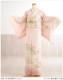 単衣 訪問着レンタル 夏用 sh1087 着物レンタル 付下げ フルセット 結婚式 お宮参り 夏 6月 7月 8月 9月 付け下げ 涼しい ママ 母 母親 houmongi 正絹「ピンクに金彩慶びの華」