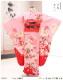 7歳 女の子 正絹 着物レンタル 七五三 j7307 フルセット 753 高級 子供着物 6歳 7才 結婚式 七草祝い 人気 レトロ モダン おしゃれ 上質着物 2021 貸衣装 発表会 上品なピンク地紗矢型に鞠麗華