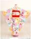 七五三 7歳 着物 レンタル オールドクラシック×水色に梅花 j7034【7歳女の子七五三】〔フルセット〕《レンタル七五三》《753レンタル》〔2020〕〔子供着物〕〔貸衣装〕〔七歳〕〔イベント〕